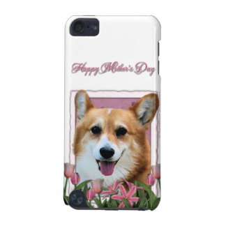 Mothers Day - Pink Tulips - Corgi - Owen iPod Touch 5G Cover