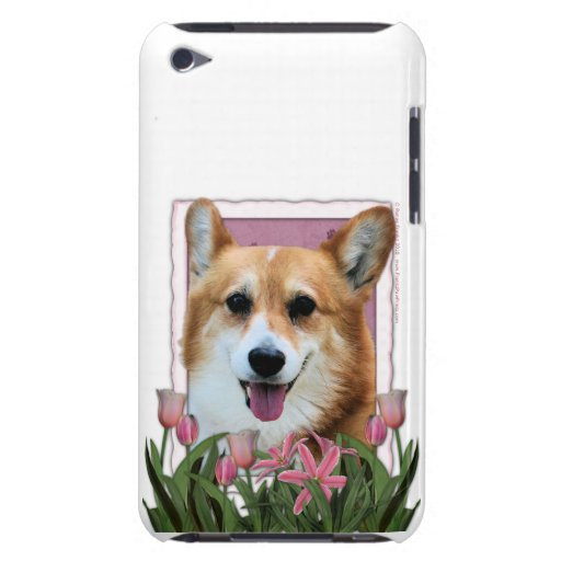 Mothers Day - Pink Tulips - Corgi - Owen iPod Touch Cases