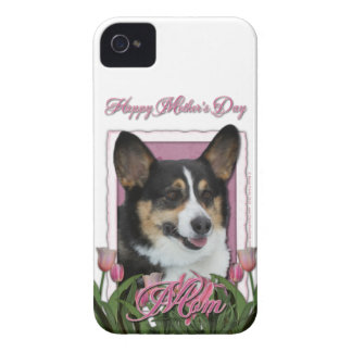 Mothers Day - Pink Tulips - Corgi - Owen iPhone 4 Cover