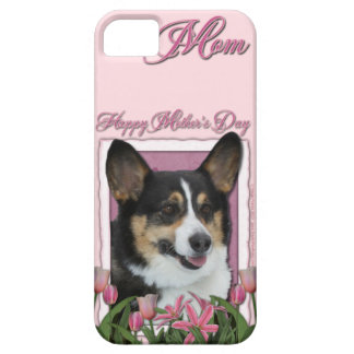 Mothers Day - Pink Tulips - Corgi - Owen iPhone SE/5/5s Case