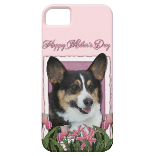 Mothers Day - Pink Tulips - Corgi - Owen iPhone SE/5/5s Case