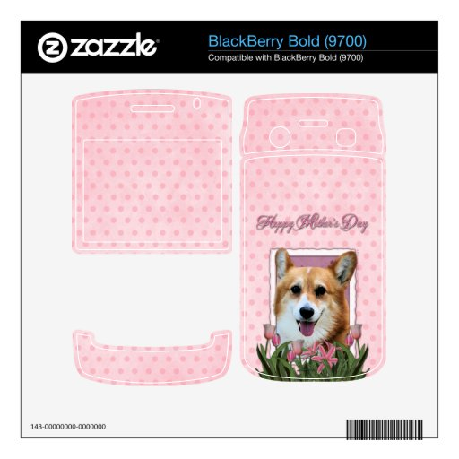 Mothers Day - Pink Tulips - Corgi - Owen Decals For BlackBerry