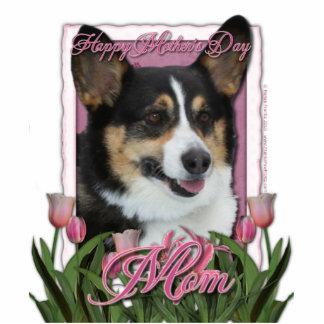Mothers Day - Pink Tulips - Corgi Statuette
