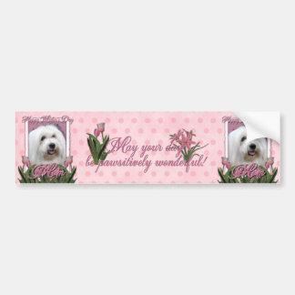 Mothers Day - Pink Tulips - Coton de Tulear Bumper Sticker