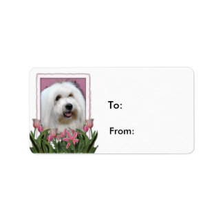 Mothers Day - Pink Tulips - Coton de Tulear Labels