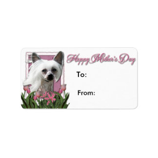 Mothers Day - Pink Tulips - Crestie - Kahlo Personalized Address Labels