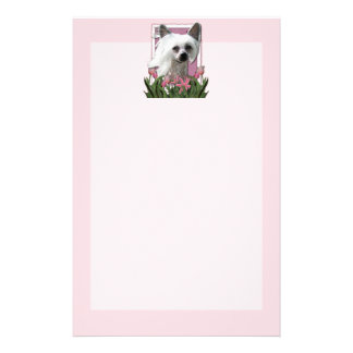 Mothers Day - Pink Tulips - Crestie - Kahlo Custom Stationery