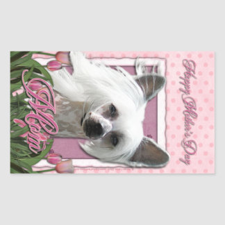 Mothers Day - Pink Tulips - Crestie - Kahlo Rectangle Stickers