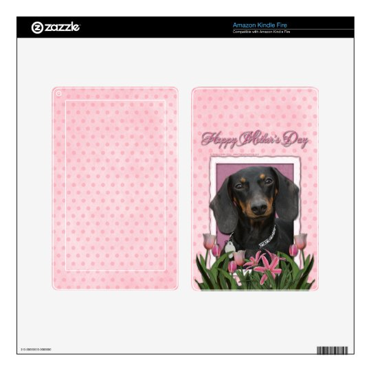 Mothers Day - Pink Tulips - Dachshund - Winston Kindle Fire Skins