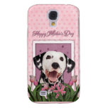 Mothers Day - Pink Tulips - Dalmatian Samsung Galaxy S4 Covers