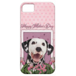 Mothers Day - Pink Tulips - Dalmatian iPhone 5 Case