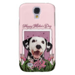 Mothers Day - Pink Tulips - Dalmatian Samsung Galaxy S4 Case
