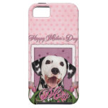 Mothers Day - Pink Tulips - Dalmatian iPhone 5 Cover