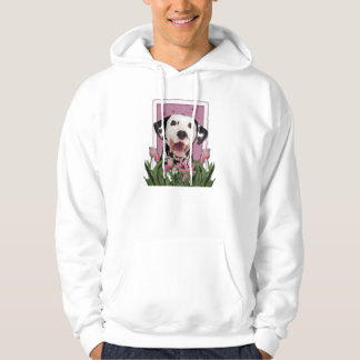 Mothers Day - Pink Tulips - Dalmatian Hoodie