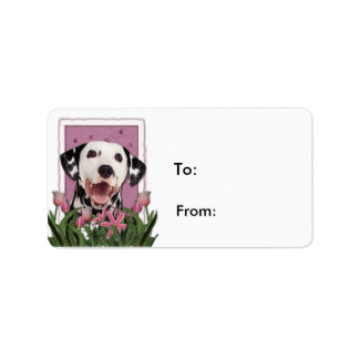 Mothers Day - Pink Tulips - Dalmatian Labels