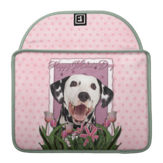 Mothers Day - Pink Tulips - Dalmatian Sleeves For MacBooks