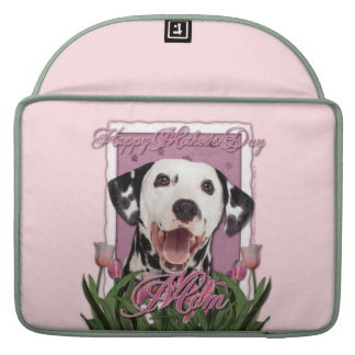 Mothers Day - Pink Tulips - Dalmatian Sleeves For MacBook Pro