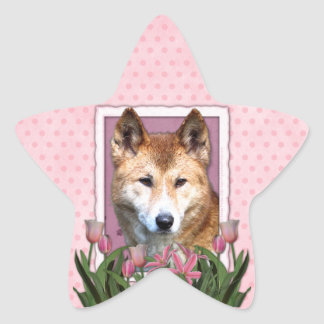 Mothers Day - Pink Tulips - Dingo Star Sticker
