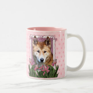 Mothers Day - Pink Tulips - Dingo Two-Tone Coffee Mug