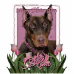 Mothers Day - Pink Tulips - Doberman - Red - Rocky Cut Out