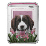 Mothers Day - Pink Tulips English Springer Spaniel iPad Sleeves