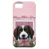 Mothers Day - Pink Tulips English Springer Spaniel iPhone SE/5/5s Case