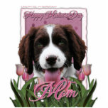Mothers Day - Pink Tulips English Springer Spaniel Photo Cutout