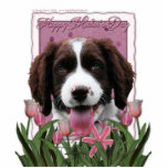 Mothers Day - Pink Tulips English Springer Spaniel Photo Sculpture