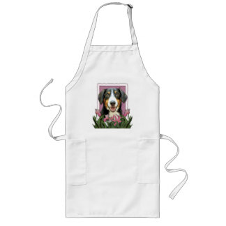 Mothers Day - Pink Tulips - Entlebucher Mountain D Long Apron