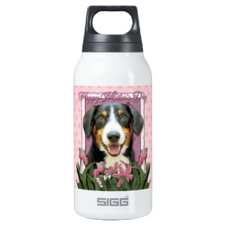 Mothers Day - Pink Tulips Entlebucher Mountain Dog 10 Oz Insulated SIGG Thermos Water Bottle