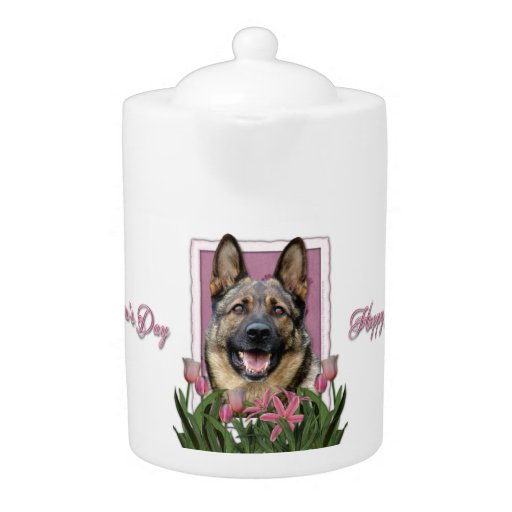 Mothers Day - Pink Tulips - German Shepherd