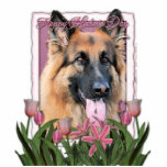 Mothers Day - Pink Tulips - German Shepherd Chance Photo Cut Outs