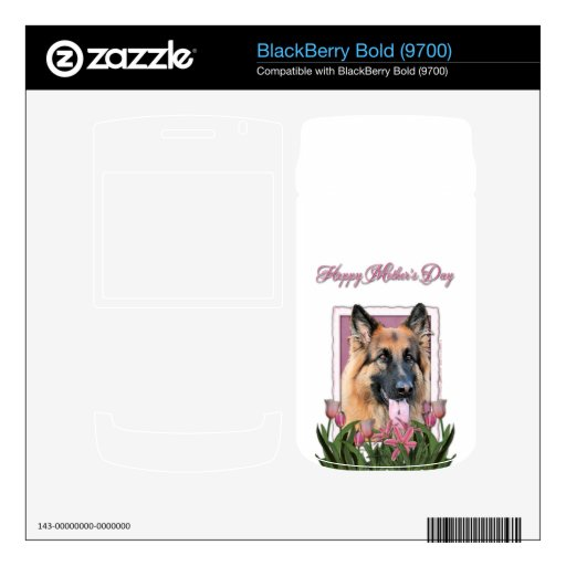 Mothers Day - Pink Tulips - German Shepherd Chance Skins For BlackBerry
