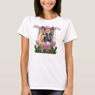 Mothers Day - Pink Tulips - German Shepherd Chance T-Shirt