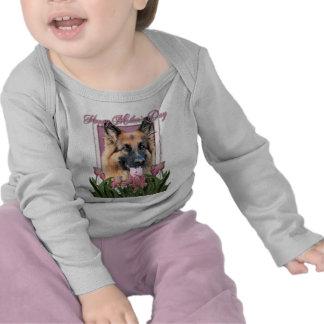 Mothers Day - Pink Tulips - German Shepherd Chance Tshirt