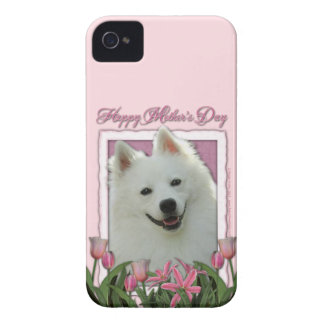 Mothers Day - Pink Tulips - German Shepherd iPhone 4 Case-Mate Case