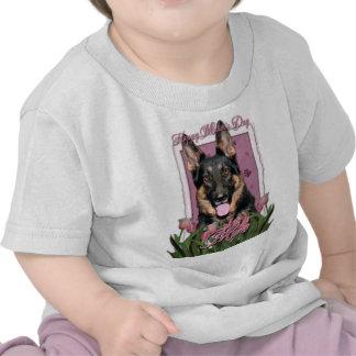 Mothers Day - Pink Tulips - German Shepherd - Kuno Tshirt