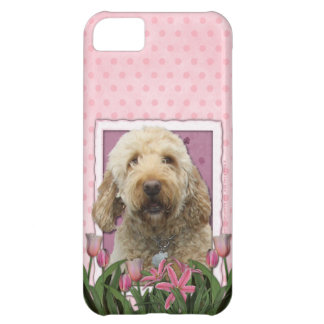 Mothers Day - Pink Tulips - GoldenDoodle Cover For iPhone 5C