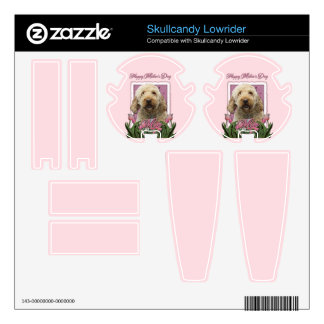 Mothers Day - Pink Tulips - GoldenDoodle Decal For Skullcandy