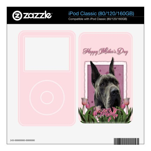 Mothers Day - Pink Tulips - Great Dane - Grey Skin For iPod Classic