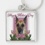 Mothers Day - Pink Tulips - Great Dane Keychains