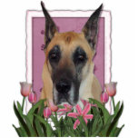 Mothers Day - Pink Tulips - Great Dane Photo Cutout