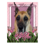 Mothers Day - Pink Tulips - Great Dane Postcard