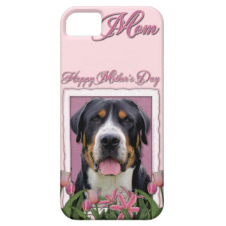 Mothers Day Pink Tulips Greater Swiss Mountain Dog iPhone SE/5/5s Case