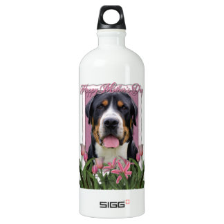 Mothers Day Pink Tulips Greater Swiss Mountain Dog SIGG Traveler 1.0L Water Bottle