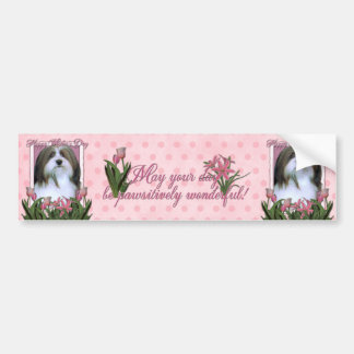 Mothers Day - Pink Tulips - Havanese Bumper Sticker