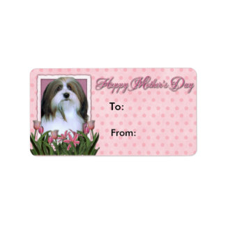 Mothers Day - Pink Tulips - Havanese Address Label