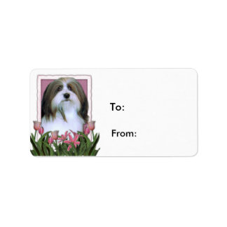 Mothers Day - Pink Tulips - Havanese Label