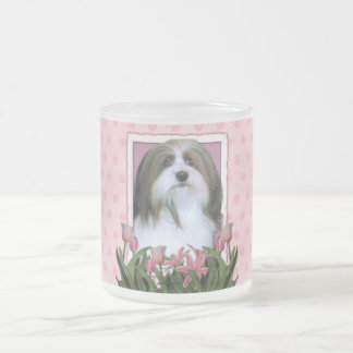 Mothers Day - Pink Tulips - Havanese 10 Oz Frosted Glass Coffee Mug