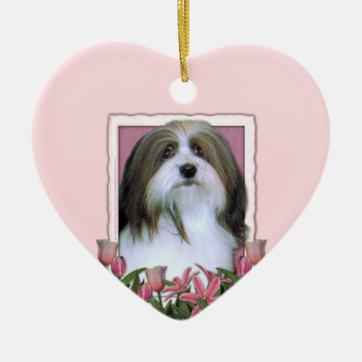 Mothers Day - Pink Tulips - Havanese Christmas Ornaments